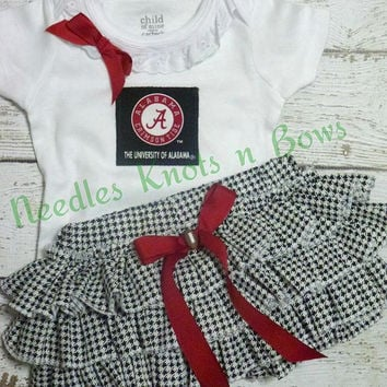 Girls Alabama Crimson Tide Outfit, Baby Girls Alabama Coming Home Outfit, University of Alabama Girls Gameday Outfit