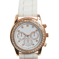 Bling Chronograph Rubber Watch | Wet Seal