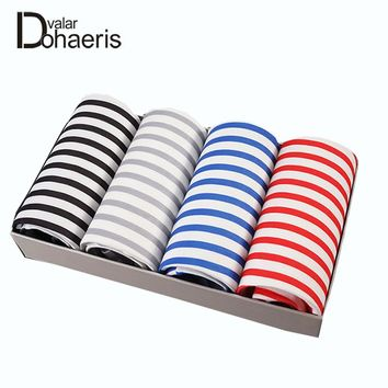 Valar Dohaeris Boxer Stripe Underwear For Men Breathable Sexy Male Boxers Bamboo Fiber Underpants Printing Cueca Hot Sell