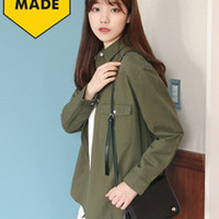 Button-Down Collared Jacket