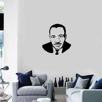 Vinyl Decal Wall Sticker Mural Martin Luther King Portrait Silhouette Unique Gift (g075)