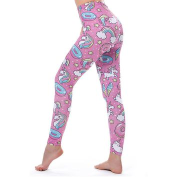 Leggings Collection Lips Unicorn Camouflage Flowers Cats Pink