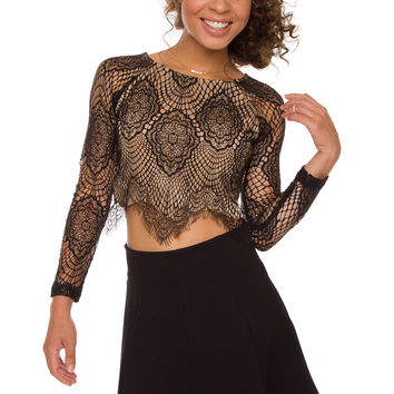 Sasha Lace Top - Black