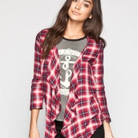 LIVING DOLL Plaid Womens Wrap | Cardigans & Wraps