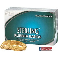 "Alliance Sterling Rubber Bands, #33 (3 1/2"" x 1/8"") Approximately 850/1 Lb. Box 