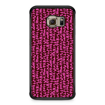 Louis Vuitton Stephen Sprouse Pink Samsung Galaxy S6 Edge Case
