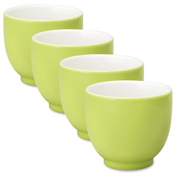 FORLIFE Q Tea Cup (Set of 4), 7 oz., Lime