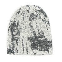 Gray Burnout Slouch Beanie