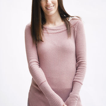 Free People Kate Thermal Pink OB519394