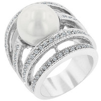 Right-hand Pearl Ring (size: 09) (pack of 1 ea)