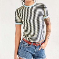 Truly Madly Deeply Jewel Striped Ringer Tee - Urban Outfitters
