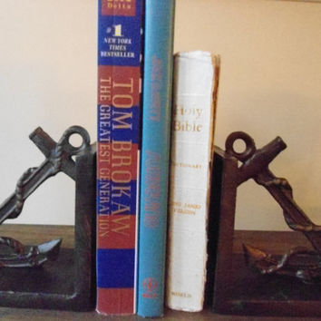 beach bookends,nautical beach decor, ship wheel, bronze, mother's day father's day,library, for book lover