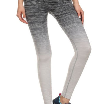 Colorful Ombre Seamless Yoga Leggings