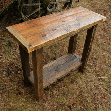 Reclaimed Rustic Barnwood Console Sofa Table
