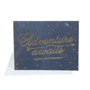 Adventure Awaits Happy Retirement Card