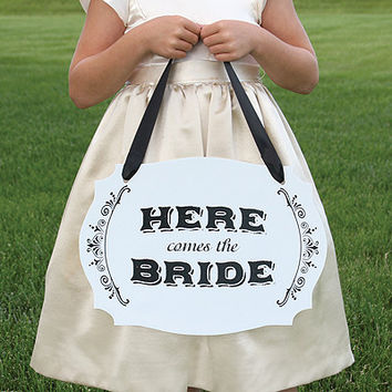Here Comes the Bride Two Sided Sign