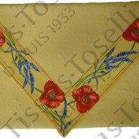 """59"""" x 20"""" Jacquard Poppies Delft Table Runner in Yellow and Yellow * Cotton & Polyester Fabric"""