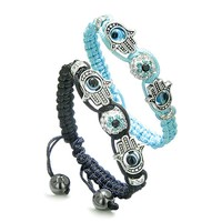 Magic Evil Eye Protection Love Couple Hamsa Hand Bracelets