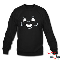 Marshmallow man face sweatshirt