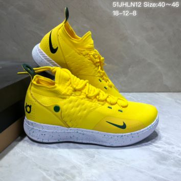 HCXX N681 Nike Zoom KD11 Mid XI Men Actual Baketball Shoes Yellow