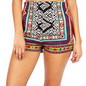 Boho Collage Shorts