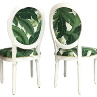 Banana Leaf Chairs, Pair