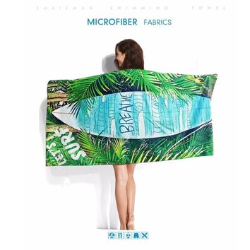 Pocket Compact Beach Towel Swim Gift Surfing Dive Microfiber Towel For Vacation Super Absorbentpareo Towel