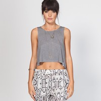 LOVE AND SURF CROP TANK