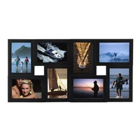 Room Essentials® Dimensional 8-Opening Collage Frame - Black 4x6
