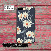 Daisy Flower Vintage Wallpaper Floral Tumblr iPhone 5 5s 5c Case and iPhone 6 and 6 Plus 6s and 6s Plus and iPhone SE iPhone 7 Plus Case
