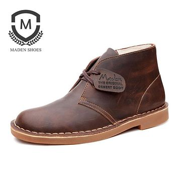 Winter New Warm Martin Boots Vintage Fashion High quality Snow Boots Non-slip Leather Ankle Boots