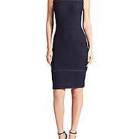 St. John - Sparkle Knit Fringed Dress - Saks Fifth Avenue Mobile