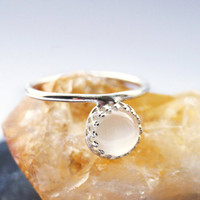 Floating Gemstone Crown Sterling Silver Ring ~ statement ring, stacking ring, gemstone, unique, moonstone