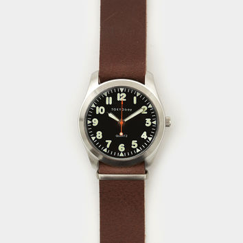 Tokyo Bay Basic Leather Watch Brown