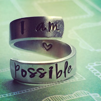 I am possible   aluminum spiral style ring 1/4 inch