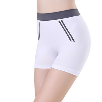 White Women Gym Compression Booty Shorts Spandex Ladies Volleyball Running lycra Athletic