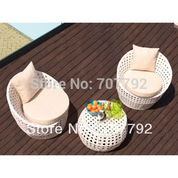 NEWEST!Rattan round Sofa Set with Coffee Table