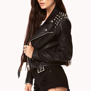 Rockstar Faux Leather Jacket