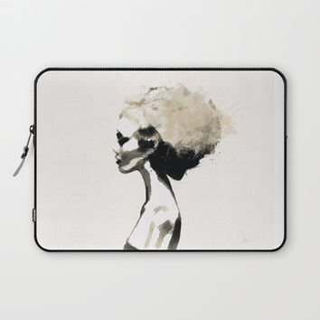 Serene - Digital fashion illustration / painting Laptop Sleeve by Allison Reich