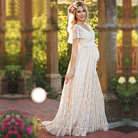 Floral Lace Maxi Dresses For Pregnant Women