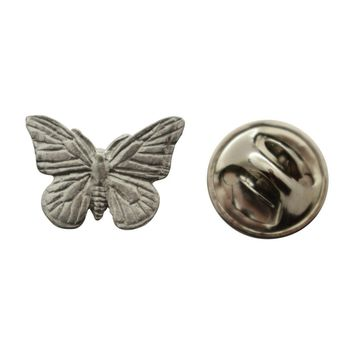 Monarch Butterfly Mini Pin ~ Antiqued Pewter ~ Miniature Lapel Pin