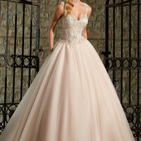 Mori Lee 2716 Beaded Tulle Ball Gown Wedding Dress