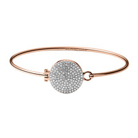 Rose Golden Pave Hinge Bangle - Michael Kors