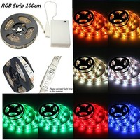 LED Light Strip 5m 16.4 Ft 5050 SMD RGB 300 LED IP65 Waterproof Rating Flexible Color Changing String with 44 Keys IR Remote Controller +Control Box for Home Decorative