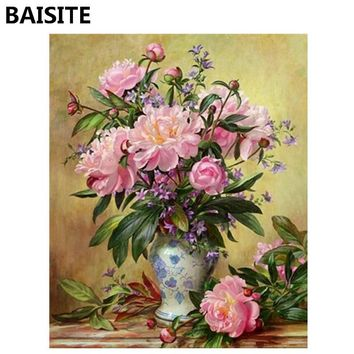 BAISITE Frameless DIY Oil Painting Pictures By Numbers On Canvas Wall Pictures Wall Art For Living Room Home Decoration 939