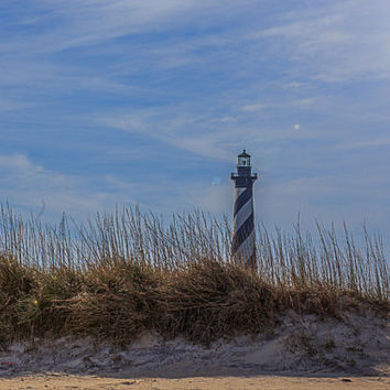 Cape Hatteras Lighthouse,Outer Banks Lighthouse, Ocean Print, Beach Decor, Landscape, Coastal Decor, Nautical Decor, nature