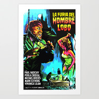 The fury of wolfman * La furia del Hombre Lobo * Vintage Movies Inspiration Art Print by Freak Shop