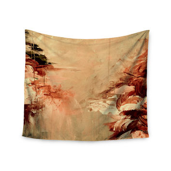 "Ebi Emporium ""Winter Dreamland 7"" Orange Maroon Wall Tapestry"