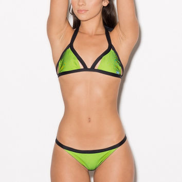 Meg Liz Swimwear - Reversible Breakers Yellow | Neon Bikini Set