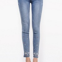 Edgy Embroidered Skinny Jeans - OASAP.com